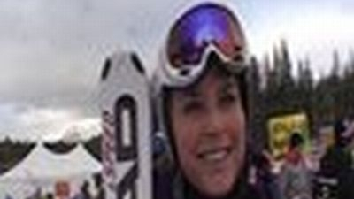 Interview with Lindsey after the 1st training run in Lake Louise