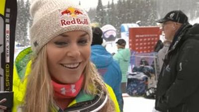 Lindsey after DH victory in Lake Louise