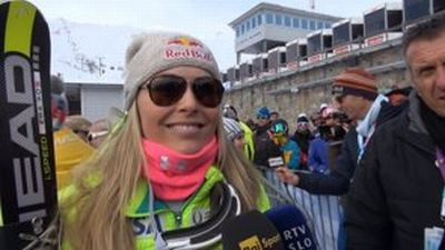 © ASP Red Bull - Lindsey after her SG victory in St.Moritz