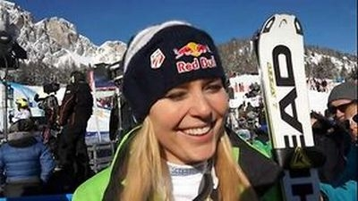 © ASP Red Bull - Lindsey after her victory at the DH in Cortina