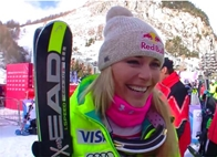 © ASP Red Bull - Lindsey after her victory in Val dIsère