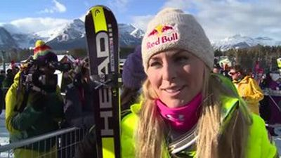 Lindsey after SG race in Lake Louise