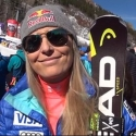 © ASP Red Bull - Lindsey after the SG in Aspen