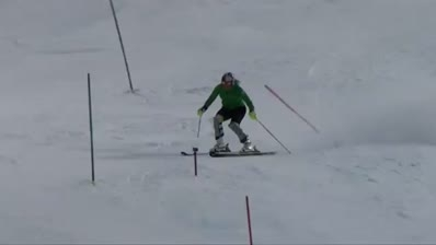 Lindsey training slalom in Vail