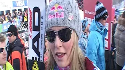 Lindsey Vonn after Slalom in Aspen