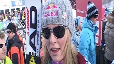 Lindsey Vonn after Slalom in Aspen