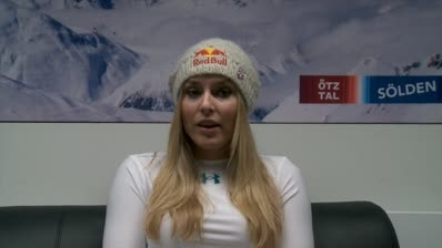 Lindsey Vonn arrived in Schladming