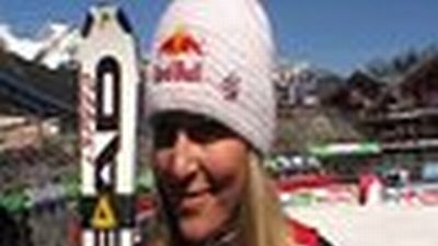 Lindsey winner of the Super G Overall WC 2012