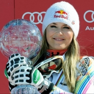 © ASP Red Bull - Overall worldcup winner Lindsey Vonn and Marcel Hirscher (AUT)