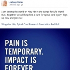 © Lindsey Vonn - Posting on Facebook by Lindsey (April 15, 2014)