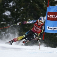 © Erich Spiess/ASP Red Bull - Rounding the gates at Lake Louise