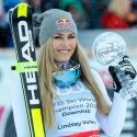 © ASP Red Bull/Erich Spiess - The 8th Downhill crystal globe for Lindsey!